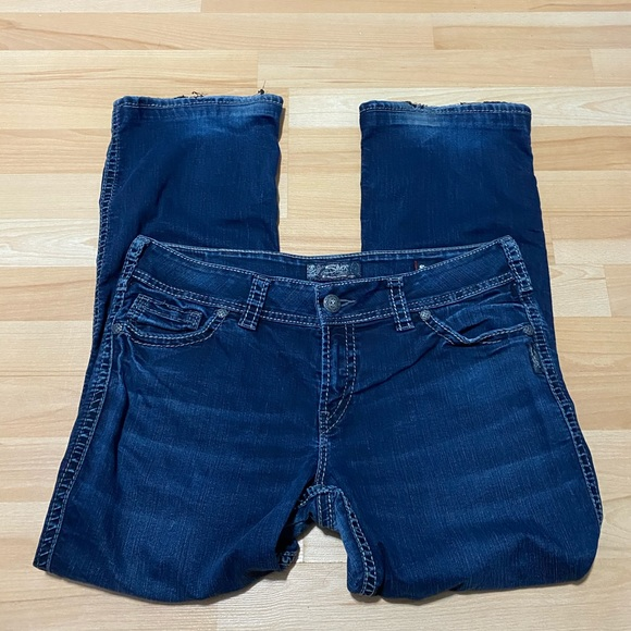 Silver Jeans Super Stretch Suki Mid Slim Boot W34